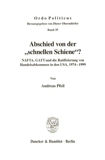 Cover: Abschied von der »schnellen Schiene«?