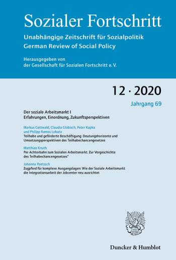 Cover: Der soziale Arbeitsmarkt I