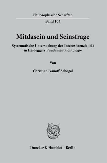 Cover: Mitdasein und Seinsfrage