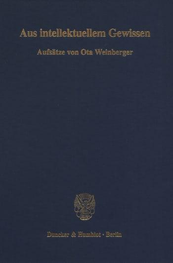 Cover: Aus intellektuellem Gewissen