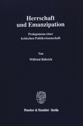 Cover: Herrschaft und Emanzipation