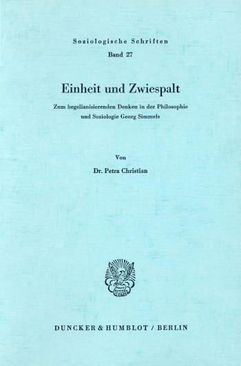 Cover: Einheit und Zwiespalt