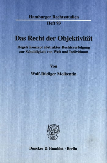 Cover: Das Recht der Objektivität