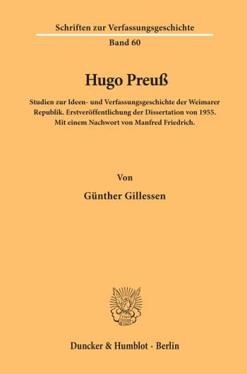 Cover: Hugo Preuß