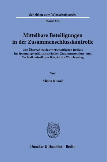 Cover: Mittelbare Beteiligungen in der Zusammenschlusskontrolle