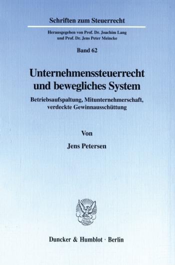 Cover: Unternehmenssteuerrecht und bewegliches System