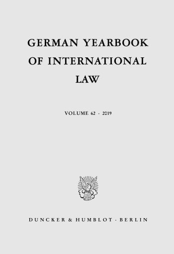 Cover: German Yearbook of International Law (GYIL)