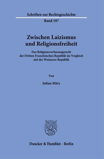 Cover: Zwischen Laizismus und Religionsfreiheit
