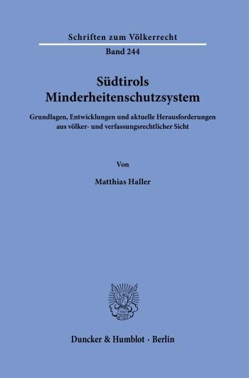 Cover: Südtirols Minderheitenschutzsystem