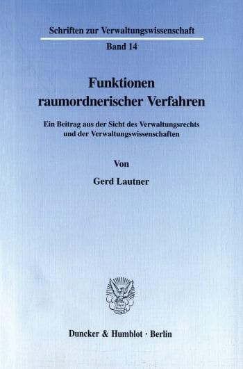 Cover: Schriften zur Verwaltungswissenschaft (SVW)