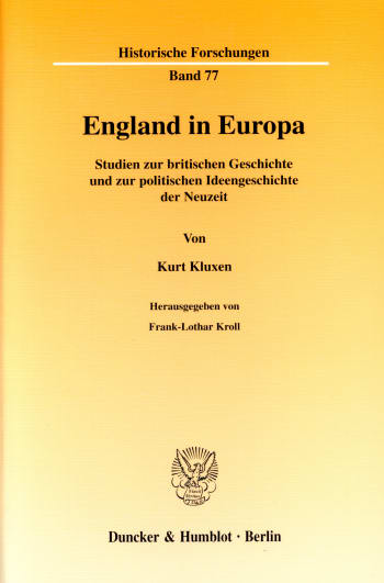 Cover: England in Europa