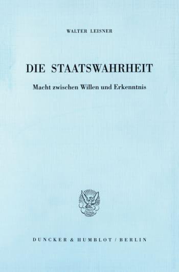 Cover: Die Staatswahrheit