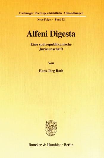 Cover: Alfeni Digesta