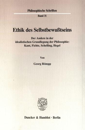 Cover: Ethik des Selbstbewußtseins