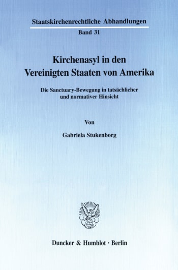 Cover: Kirchenasyl in den Vereinigten Staaten von Amerika