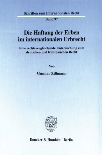 Cover: Die Haftung der Erben im internationalen Erbrecht