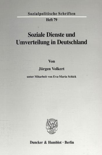Cover: Soziale Dienste und Umverteilung in Deutschland