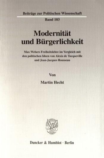 Cover: Modernität und Bürgerlichkeit