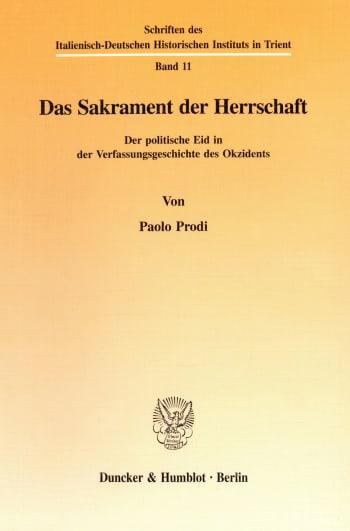 Cover: Das Sakrament der Herrschaft