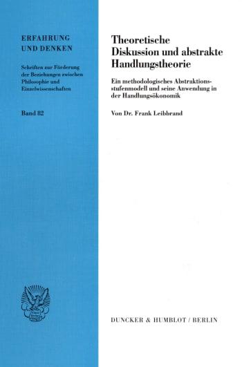 Cover: Theoretische Diskussion und abstrakte Handlungstheorie