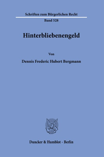 Cover: Hinterbliebenengeld