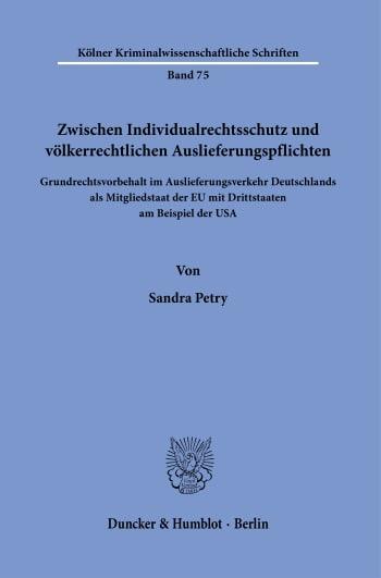 Cover: Kölner Kriminalwissenschaftliche Schriften (KKS)