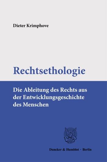 Cover: Rechtsethologie