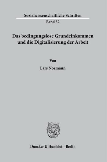 Cover: Sozialwissenschaftliche Schriften (SOS)
