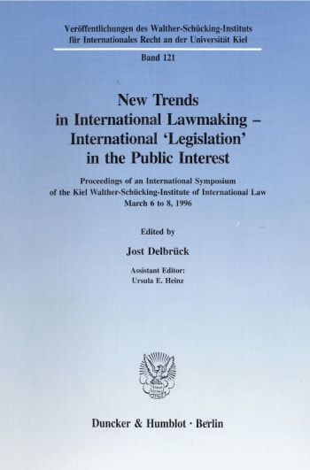 Cover: New Trends in International Lawmaking - International 'Legislation' in the Public Interest