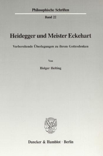 Cover: Heidegger und Meister Eckehart