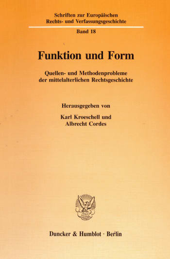Cover: Funktion und Form