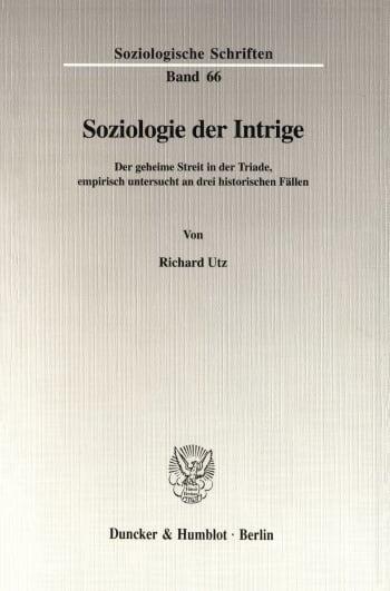 Cover: Soziologie der Intrige