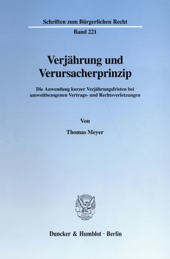 Cover: Verjährung und Verursacherprinzip
