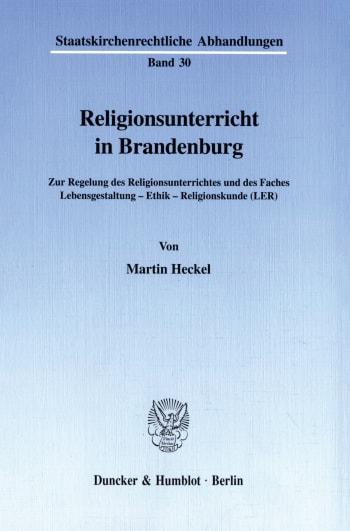 Cover: Religionsunterricht in Brandenburg