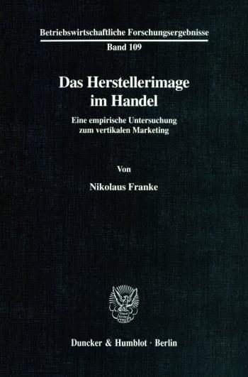 Cover: Das Herstellerimage im Handel