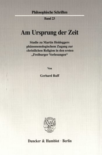 Cover: Am Ursprung der Zeit