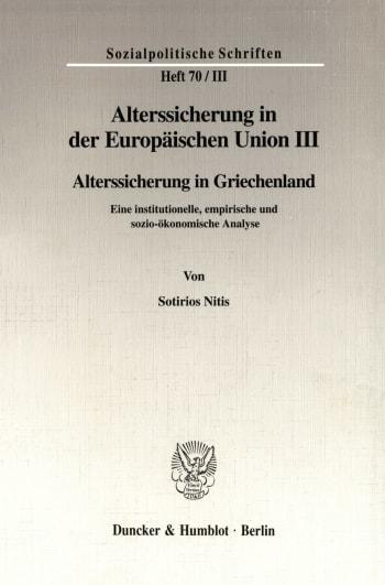 Cover: Alterssicherung in der Europäischen Union III