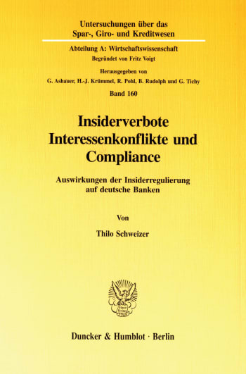 Cover: Insiderverbote, Interessenkonflikte und Compliance