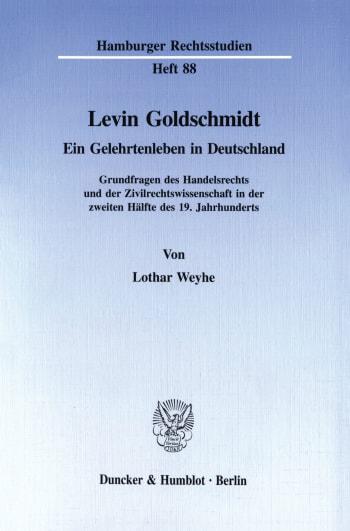 Cover: Levin Goldschmidt