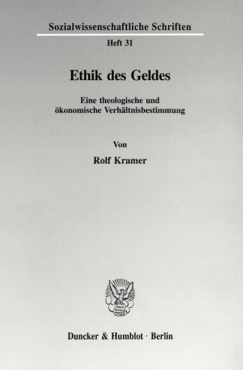 Cover: Ethik des Geldes