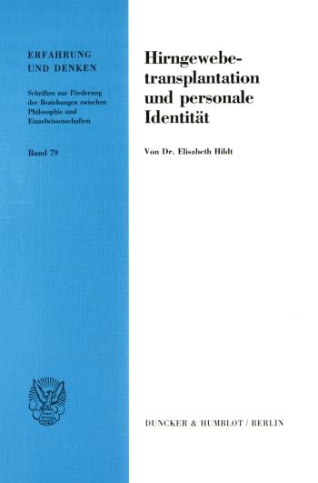 Cover: Hirngewebetransplantation und personale Identität