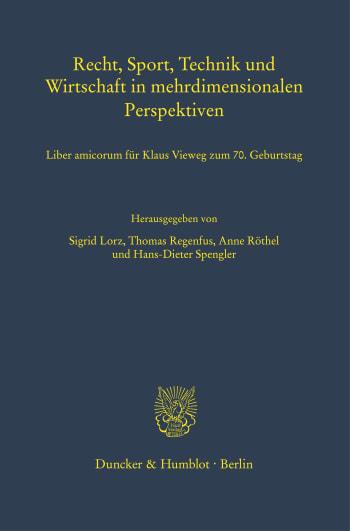Cover: Recht, Sport, Technik und Wirtschaft in mehrdimensionalen Perspektiven