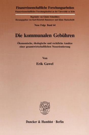 Cover: Die kommunalen Gebühren