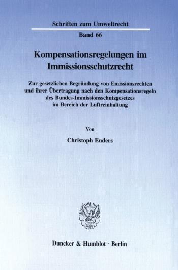 Cover: Kompensationsregelungen im Immissionsschutzrecht
