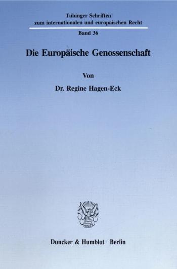 Cover: Die Europäische Genossenschaft