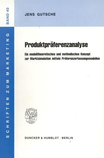 Cover: Produktpräferenzanalyse