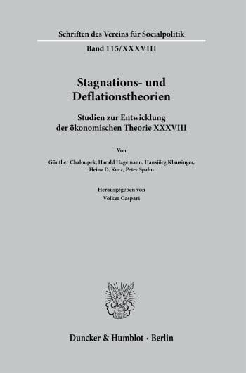 Cover: Stagnations- und Deflationstheorien