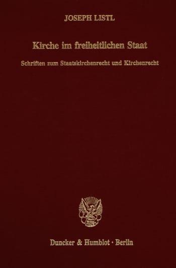 Cover: Kirche im freiheitlichen Staat