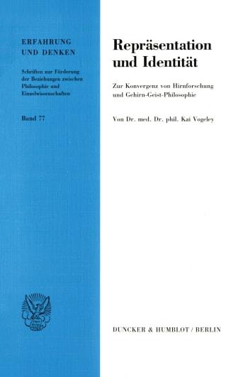 Cover: Repräsentation und Identität