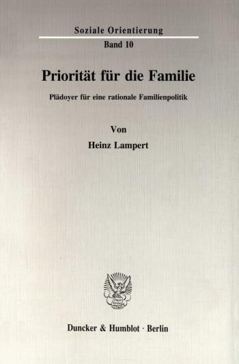 Cover: Priorität für die Familie